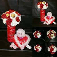 white and red monkey plush toy Houston, 77091