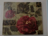 red and brown floral painting Queens, 11691