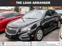 2015 chevrolete cruze lt with 106,604km and 100% approved financing Toronto