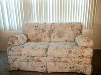 beige and red floral fabric loveseat Chesapeake, 23320