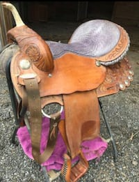 brown and red leather horse saddle Gaithersburg, 20882