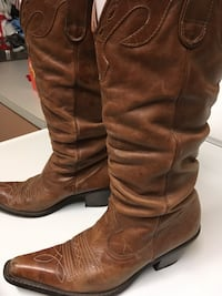 pair of brown leather knee-high boots Lodi, 95240