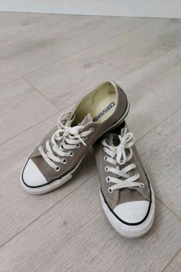New price! Gray Converse All Star Low Top Sneakers 6d57c634-1379-4431-9048-96889909ac6d