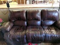Leather couch, coffee table and two end tables Cheyenne, 82001
