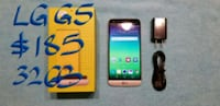 black LG G5  smartphone with box and charger Pointe-Claire, H9R 3A3