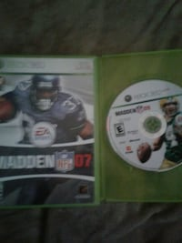 Xbox 360 games Madden 07 & 09  Bakersfield, 93305