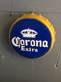 blue and yellow Corona Extra signage Vaughan, L4H 0M1