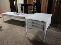 French Provincial Coffee Table and Side Table with drawer 3727 km