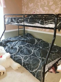 black metal bunk bed with mattresses Ellenton, 34222