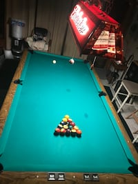 green and brown pool table Hudson, 34669