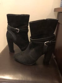 Womens black heeled boots Port Coquitlam