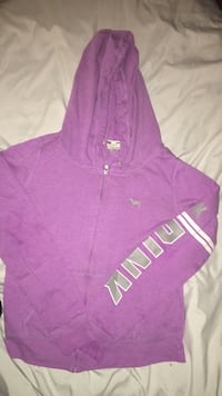 Purple zip up sweater from pink