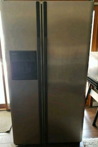 gray side-by-side refrigerator with dispenser San Diego, 92131