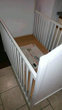baby's white wooden crib Surrey, V3R 1Y5