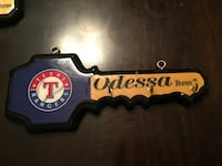 blue and brown Odessa key rack with hooks