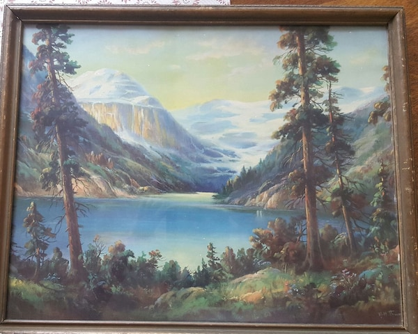 Used 1930 S Framed Print By Famous Artist W M Thompson For