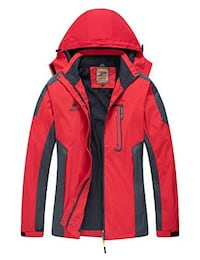 red and black The North Face zip-up jacket Ottawa