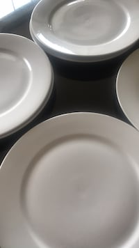 White plates IKEA New , 6 available $12  for all  Brampton, L7A 0K2