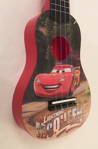 red Lightning McQueen acoustic guitar