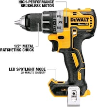 DeWalt xr brush less hammer drill with charger and one battery  Pickering