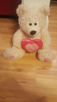 Love White  Colored Teddy Bear Terry, 39170