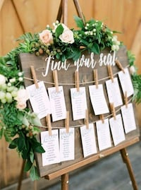 Wedding seating chart( hand made custom)