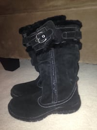 Black velvet/leather boots by George Delta