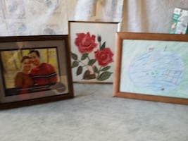 $5  Picture Frames + Rose Painting