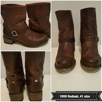 pair of brown leather boots Montréal, H4B 1N6