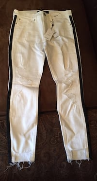 White and black track pants New York, 11214
