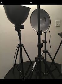 Photo shoot lighting gear professional SMITH VICTOR 4 stands 2 lights 1 clip and bag  Philadelphia, 19125