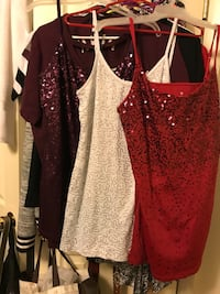 Purple and red xl white large