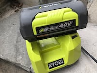 Ryobi 40v battery and charger, new Toronto, M3A 1S9