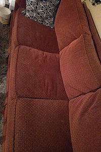 red fabric 3-seat sofa bed OBO Toronto, M9N 1M3