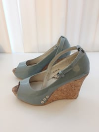 Blue & Brown Wedges High Heels Shoes with Buckle London, N6A 2S5