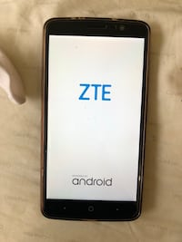 Black ZTE Max with clear case  and glass screen protector boost Mobil Waukegan, 60085