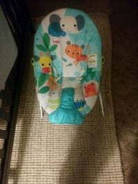 baby's blue and white bouncer Bakersfield, 93309
