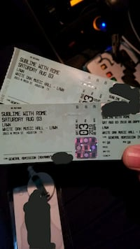 Sublime with Rome tickets  Spring, 77379