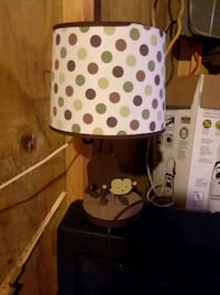 white and black polka dot print table lamp Florence, 35633