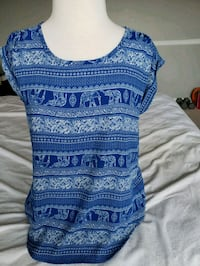 blue and white tribal print sleeveless dress North Charleston, 29406