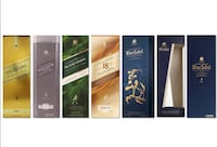 7 Johnnie Walker boxes w/bttls Savage, 20763