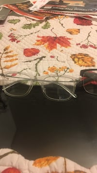 clear framed eyeglasses