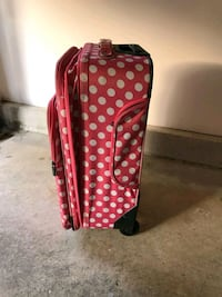red and white polka dot luggage Rockville, 20850
