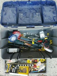 Tool box with tools & electrical parts Calgary, T2J 0Y1
