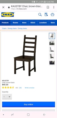 black wooden chair with black wooden frame