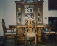Solid walnut dining set  Kitchener, N2A 4M7