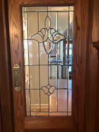 ANTIQUE LEADED GLASS PANEL