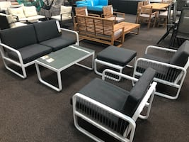 Only $50 Down!  New 5 Piece Outdoor Patio Set. Grey. Free Delivery!