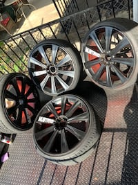 22in 5 lug universal rims Baltimore, 21227