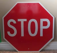 24 X 24 Reflective Stop Sign Good Condition Vancouver